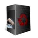 128x128px size png icon of TrashCan Full
