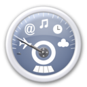 128x128px size png icon of dashboard   blue