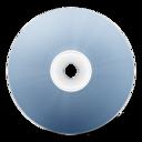 128x128px size png icon of CD avant bleu