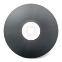 128x128px size png icon of CD noir