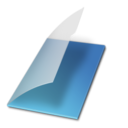 128x128px size png icon of Documents vide bleu