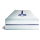 128x128px size png icon of hdd bleu 2