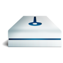 128x128px size png icon of hdd deep blue