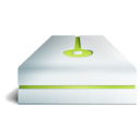 128x128px size png icon of hdd lime