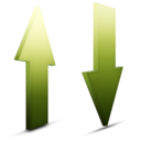 128x128px size png icon of transfert