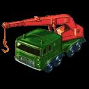 128x128px size png icon of 8 Wheel Crane