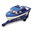 128x128px size png icon of Boat and Trailer