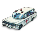 128x128px size png icon of Cadillac Ambulance
