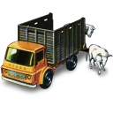 128x128px size png icon of Cattle Truck with Cattle
