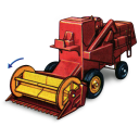 128x128px size png icon of Combine Harvester with Movement