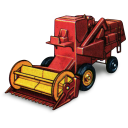 128x128px size png icon of Combine Harvester
