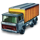 128x128px size png icon of DAF Tipper Container Truck