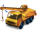 128x128px size png icon of Dodge Crane Truck with movement