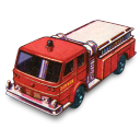 128x128px size png icon of Fire Pumper