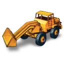 128x128px size png icon of Hatra Tractor Shovel