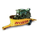Honda Motorcycle with Trailer Icon