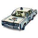 128x128px size png icon of Police Car