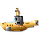 128x128px size png icon of yellow submarine