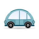 128x128px size png icon of car blue