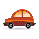 128x128px size png icon of car orange