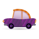 128x128px size png icon of car purple