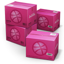 128x128px size png icon of Dribbble Shipping Box