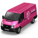 128x128px size png icon of Dribbble Van Front
