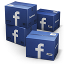 128x128px size png icon of Facebook Shipping Box