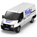 128x128px size png icon of Flickr Van Front