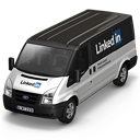 128x128px size png icon of Linkedin Van Front