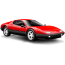 128x128px size png icon of Classic car red