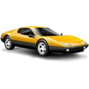 Classic car yellow Icon