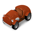 128x128px size png icon of Orange Car