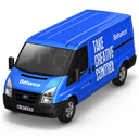 128x128px size png icon of Behance Van Front