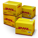 128x128px size png icon of DHL Shipping Box