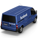 128x128px size png icon of Facebook Van Back