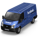 128x128px size png icon of Facebook Van Front