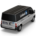 128x128px size png icon of Linkedin Van Back