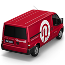 128x128px size png icon of Pinterest Van Back
