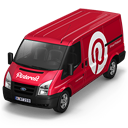 128x128px size png icon of Pinterest Van Front