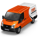 128x128px size png icon of TNT Van Front