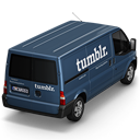 128x128px size png icon of Tumblr Van Back