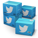 128x128px size png icon of Twitter Shipping Box
