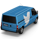 128x128px size png icon of Twitter Van Back