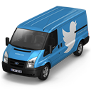 128x128px size png icon of Twitter Van Front
