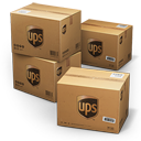 128x128px size png icon of UPS Shipping Box