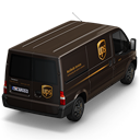 128x128px size png icon of UPS Van Back