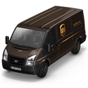128x128px size png icon of UPS Van Front