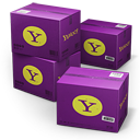 128x128px size png icon of Yahoo Shipping Box