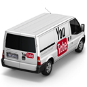 128x128px size png icon of YouTube Van Back